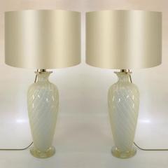 Marina Ravagnan Gabbiani Pair of Ravagnan Gabiani Murano Table Lamps Italy 1960s - 1314946
