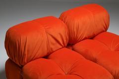 Mario Bellini Camaleonda Lounge Chairs in Bright Orange Velvet 1970s - 1420978