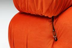 Mario Bellini Camaleonda Lounge Chairs in Bright Orange Velvet 1970s - 1420980