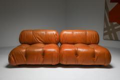 Mario Bellini Camaleonda in original cognac leather 1970s - 1638241