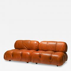 Mario Bellini Camaleonda in original cognac leather 1970s - 1639220