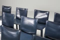 Mario Bellini Cassina Blue CAB Chairs 1970s - 1566239