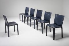 Mario Bellini Cassina Blue CAB Chairs 1970s - 1566241