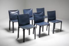 Mario Bellini Cassina Blue CAB Chairs 1970s - 1566243