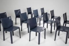 Mario Bellini Cassina Blue CAB Chairs 1970s - 1566250