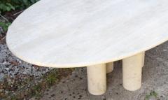 Mario Bellini Colonnata II oval dining table in travertine for Cassina 1970 - 1287996