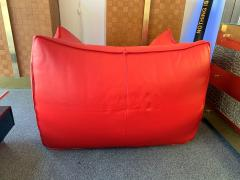 Mario Bellini Le Bambole Armchairs Red Leather by Mario Bellini for B B Italia 1970s - 1405956