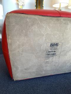 Mario Bellini Le Bambole Armchairs Red Leather by Mario Bellini for B B Italia 1970s - 1405958