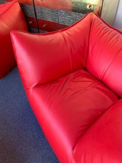 Mario Bellini Le Bambole Armchairs Red Leather by Mario Bellini for B B Italia 1970s - 1405960