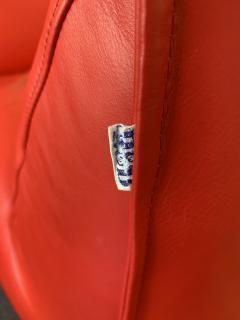 Mario Bellini Le Bambole Armchairs Red Leather by Mario Bellini for B B Italia 1970s - 1405964
