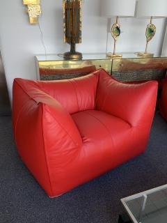 Mario Bellini Le Bambole Armchairs Red Leather by Mario Bellini for B B Italia 1970s - 1405965