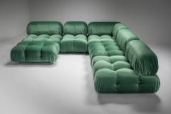 Mario Bellini Mario Bellini Camaleonda in Pierre Frey Velvet Green Upholstery 1970s - 1566331
