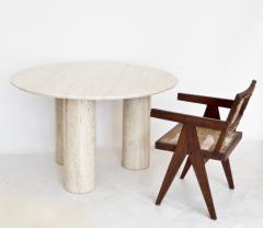 Mario Bellini Mario Bellini Italian Travertine Il Colonnato Dining Table for Cassina - 1172633