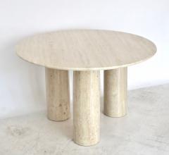 Mario Bellini Mario Bellini Italian Travertine Il Colonnato Dining Table for Cassina - 1172635