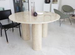 Mario Bellini Mario Bellini Italian Travertine Il Colonnato Dining Table for Cassina - 1172640