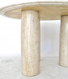Mario Bellini Mario Bellini Italian Travertine Il Colonnato Dining Table for Cassina - 1172641