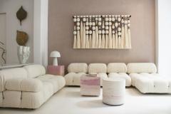 Mario Bellini Mario Bellini for B B Italia Camaleonda White Boucl Fabric Modular Sofa - 2077892