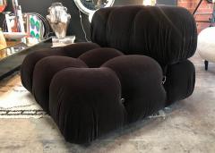 Mario Bellini Mario Bellini in Brown Mohair Original Fabric Camaleonda Modular Sofa - 1226523