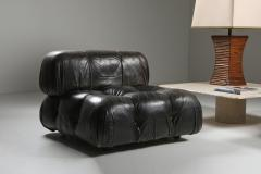 Mario Bellini Mario Bellinis camaleonda lounge chairs in original black leather 1970s - 1291492