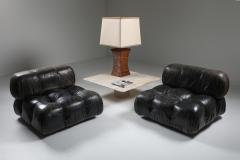 Mario Bellini Mario Bellinis camaleonda lounge chairs in original black leather 1970s - 1291498