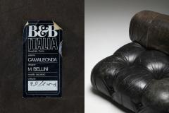 Mario Bellini Mario Bellinis camaleonda lounge chairs in original black leather 1970s - 1291502