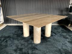 Mario Bellini Monumental Travertine Dining Table after Mario Bellini - 1919806