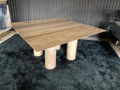 Mario Bellini Monumental Travertine Dining Table after Mario Bellini - 1919807