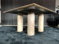 Mario Bellini Monumental Travertine Dining Table after Mario Bellini - 1919809