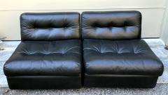 Mario Bellini Pair Vintage Amanta Modular Slipper Chairs Mario Bellini - 1207267
