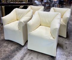 Mario Bellini Pair of 4 Tentazione Lounge Chairs for Cassina by Mario Bellini - 1609557