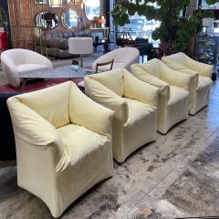 Mario Bellini Pair of 4 Tentazione Lounge Chairs for Cassina by Mario Bellini - 1609564
