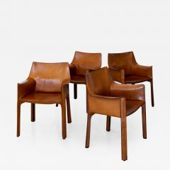 Mario Bellini SET OF 4 BELLINI CAB CHAIRS - 1069033