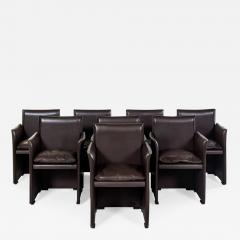 Mario Bellini Set of Eight Italian Leather Armchairs Mario Bellini Cassina - 1497133