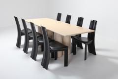 Mario Bellini Travertine Dining Table by Mario Bellini Il Colonnato 1970s - 984897