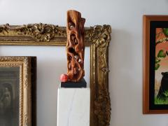 Mario Dal Fabbro Untitled Carved Organic Shaped Natural Wood Sculpture - 1162763