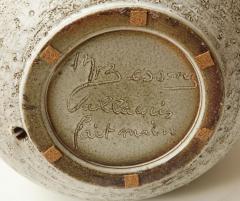 Marius Bessone Monumental ceramic lamp with deeply incised design - 1131096