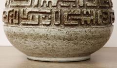 Marius Bessone Monumental ceramic lamp with deeply incised design - 1131100