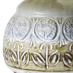 Marius Bessone Table lamp in stoneware with carved flowers by Vallauris potter Marius Bessone - 1041879