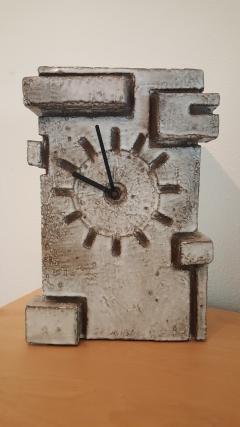 Marius Bessone Vallauris Marius Bessone earthware clock  - 972618