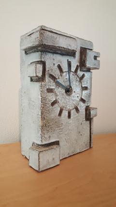 Marius Bessone Vallauris Marius Bessone earthware clock  - 972620
