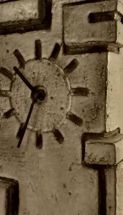 Marius Bessone Vallauris Marius Bessone earthware clock  - 972674