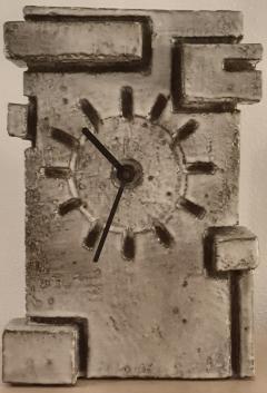 Marius Bessone Vallauris Marius Bessone earthware clock  - 972676