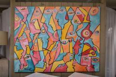 Mark Adams All Those Eyes Acrylic On Canvas by Mark Adams - 467115