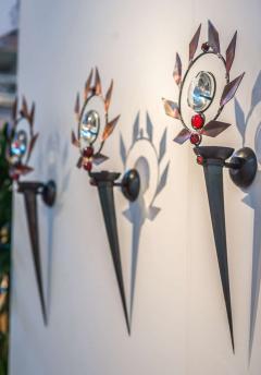 Mark Brazier Jones Set of Three Wall Sconces - 590449