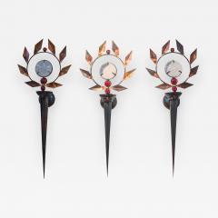 Mark Brazier Jones Set of Three Wall Sconces - 592400