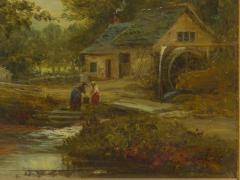 Mark Edwin Dockree A Small Mill Antique Landscape Painting by Mark Dockree English 1856 1901  - 1066435