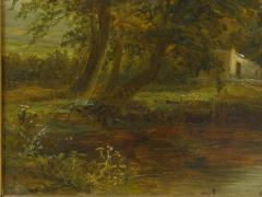 Mark Edwin Dockree A Small Mill Antique Landscape Painting by Mark Dockree English 1856 1901  - 1066437