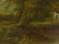 Mark Edwin Dockree A Small Mill Antique Landscape Painting by Mark Dockree English 1856 1901  - 1066442