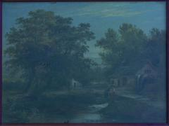 Mark Edwin Dockree A Small Mill Antique Landscape Painting by Mark Dockree English 1856 1901  - 1066446