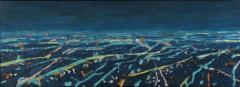 Mark Horton Aerial View of City Horizon at Night 18 x50  - 1191323